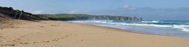 панорама пляжа suring стоковые изображения rf