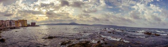 Панорама побережья в St Tropez стоковое изображение