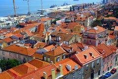 панорама Португалия lisbon города стоковая фотография
