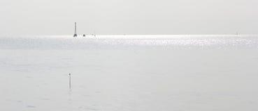 Панорама после полудня белого моря, bangpu, Бангкок Стоковое Фото