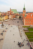 панорама Польша квадратный warsaw замока Стоковое фото RF