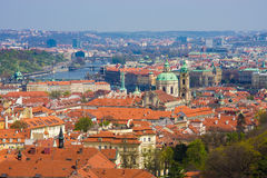 Панорама Прага Стоковое Изображение RF