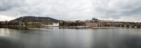 Панорама Праги, чехия Стоковые Изображения RF