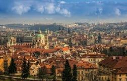 Панорама Праги стоковое изображение rf