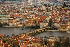 Панорама Праги стоковое фото rf