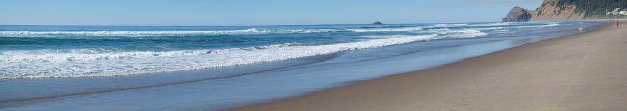 Панорама прибоя океана Стоковое Изображение RF