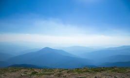 Панорама прикарпатских гор, Goverla, Украина Стоковое Фото