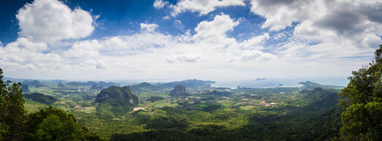 Панорама провинции Krabi. Таиланд. Стоковое фото RF