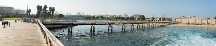 Панорама прогулки Тель-Авив Стоковое Изображение RF