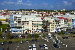 Панорама пункта Pitre - столица Гваделупы, карибская Стоковая Фотография