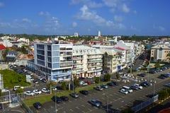 Панорама пункта Pitre - столица Гваделупы, карибская Стоковое Фото