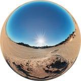 панорама пустыни Стоковая Фотография