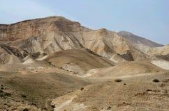 Панорама пустыни Judean, оно лежит к востоку от Иерусалима и спускает к мертвому морю, Израилю Стоковое Изображение