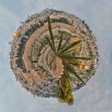 Панорама планеты старого города Иерусалима крошечной Стоковая Фотография RF
