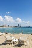 Панорама пляжа Барселоны, Испания Стоковые Изображения