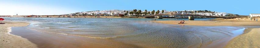 Панорама пляжа Ла frontera de conil Стоковое Изображение
