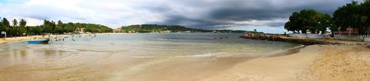 панорама пляжа на Unawatuna Стоковая Фотография RF