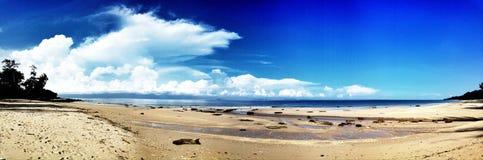 Панорама пляжа Стоковая Фотография RF