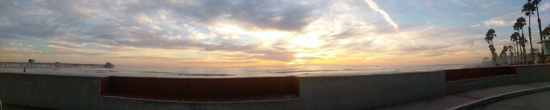 Панорама пляжа Стоковые Фото