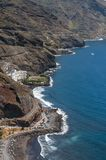 Панорама пляжа Las Teresitas, Тенерифе, Канарских островов, Испании стоковое фото rf