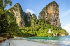Панорама пляжа Railay в Krabi, Таиланде Стоковые Изображения RF
