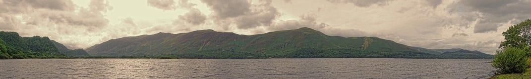 Панорама район озера Bassenthwaite, английский озера Стоковые Фотографии RF