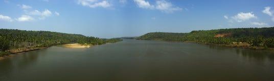 Панорама реки Стоковое Изображение RF