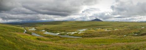 Панорама реки Laxa Стоковые Фотографии RF