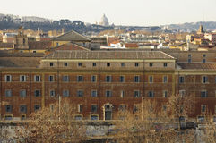 Панорама Рима увиденная от холма Aventine Стоковые Фотографии RF
