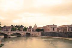 Панорама Рима Стоковое Изображение RF