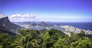 Панорама Рио-де-Жанейро, Бразилии стоковое изображение rf