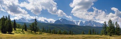 панорама Россия гор chuya altai северная стоковая фотография