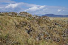 Панорама руин армянских средневековых Ber Лори крепости стоковое фото