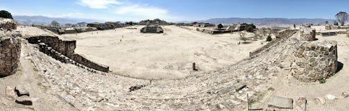 Панорама руин Monte Alban, Мексика стоковые изображения rf