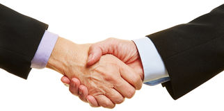 Панорама рукопожатия дела Стоковая Фотография