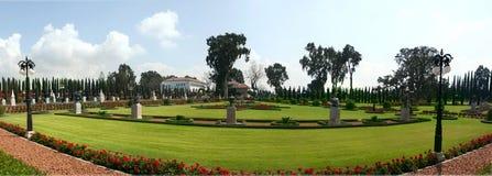 панорама сада bahai akko Стоковое фото RF