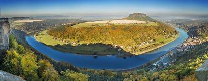 Панорама Саксония Швейцария Стоковые Фото