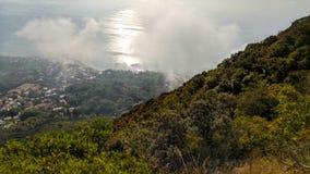 Панорама Сан Felice Circeo Стоковые Изображения