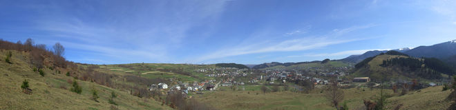 панорама сельской местности широкая Стоковое Изображение