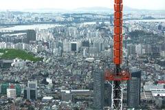 Панорама Сеула Стоковые Фото