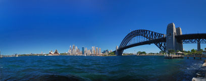 панорама Сидней гавани моста Стоковое фото RF