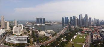 Панорама Сингапура Стоковые Изображения RF