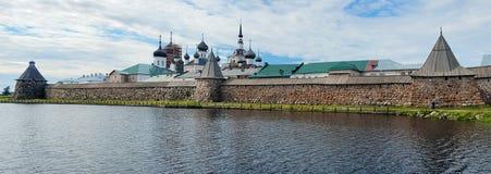 Панорама скита Solovetsky, России Стоковое Изображение