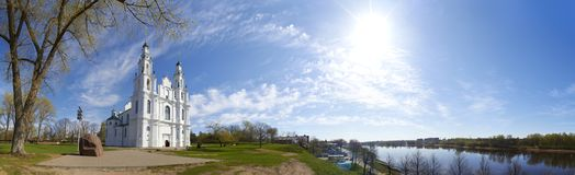 Панорама собора St Sophia Древний город Полоцк 862 Беларуси Стоковое Изображение