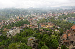 Панорама средневекового города в Европе Стоковые Фотографии RF