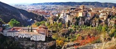 Панорама средневекового Cuenca стоковое фото