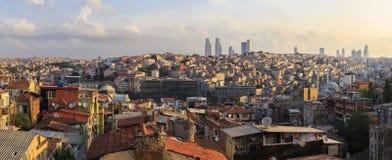 Панорама Стамбула Taksim индюк Стоковое фото RF