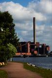 Панорама станции угольной электростанции стоковые изображения rf