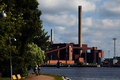Панорама станции угольной электростанции стоковые изображения