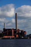 Панорама станции угольной электростанции стоковые фотографии rf
